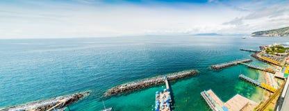 Panoramic view of Sorrento coastline. Campania, Italy royalty free stock images