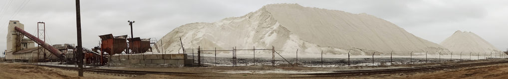 A Panoramic View of South Bay Salt Works, San Diego Stock Photos