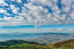 Panoramic view of southern Nepal`s area royalty free stock image