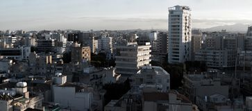 Panoramic view of southern part of Nicosia, capital and largest Stock Image