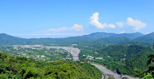 Panoramic View of Southern Taiwan Stock Image
