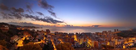 Panoramic view on a spanish city Royalty Free Stock Images