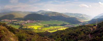 Panoramic view of the Spanish Pyrenees stock images