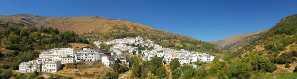 Panoramic view of spanish town. In mountains Stock Photography