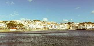 Panoramic view of the Spanish town of Cadaques,the famous small Stock Photography