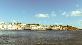Panoramic view of the Spanish town of Cadaques,the famous small Stock Photo