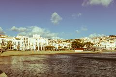 Panoramic view of the Spanish town of Cadaques,the famous small Stock Image