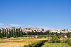 Panoramic view of Specchia. Puglia. Italy. Royalty Free Stock Photos