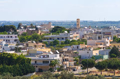 Panoramic view of Specchia. Puglia. Italy. Royalty Free Stock Photos