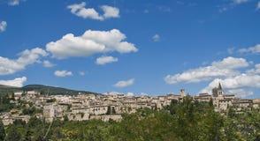 Panoramic view of Spello. Umbria. Stock Photography