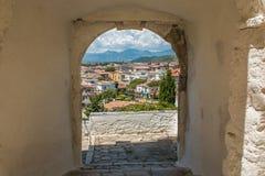 Panoramic view of Sperlonga from the arch, Lazio, Italy Stock Image