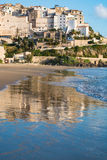 Panoramic view of Sperlonga and beautiful sandy beach. Italy Royalty Free Stock Photo