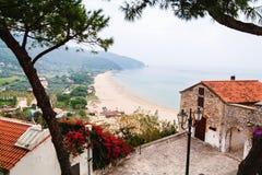 Panoramic view of Sperlonga and Tyrrhenian sea. Italy Royalty Free Stock Image