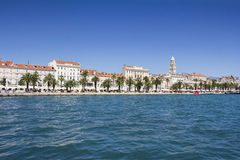 Panoramic view of Split Croatia. Panoramic view of Split and tower Palace of Diocletian in Croatia Stock Images