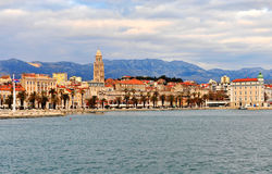 Panoramic view of Split old town Royalty Free Stock Image