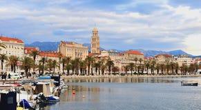 Panoramic view of Split town, Croatia Royalty Free Stock Images