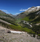 Panoramic view of the spring valley of Gavarnie Royalty Free Stock Photography