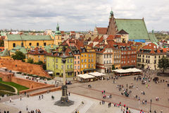 View of Castle square. Warsaw. Poland Royalty Free Stock Photo