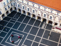 Panoramic view of a square in Vilnius Stock Photography