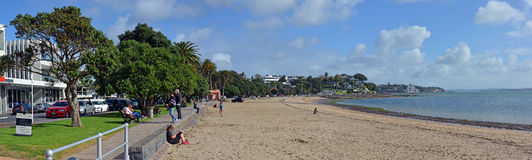 Panoramic view of St Helliers Beach, Auckland, New Zealand Stock Photo
