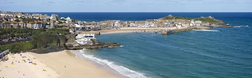 Panoramic view of St. Ives Stock Photo