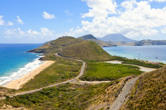 Panoramic view of st kitts Royalty Free Stock Image