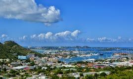 Panoramic view of St Martin, beautiful Caribbean island Stock Image