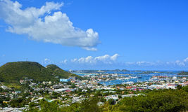 Panoramic view of St Martin, beautiful Caribbean island Royalty Free Stock Images