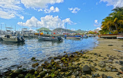 Panoramic view of St Martin, beautiful Caribbean island Royalty Free Stock Photo