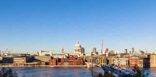 Panoramic View of St Paul`s Cathedral in London Royalty Free Stock Photography