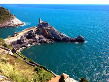 Panoramic view of St. Peter, Portovenere Royalty Free Stock Images