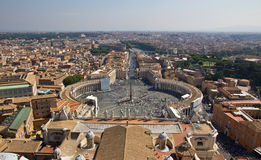 Panoramic view on St. Peter's Square Stock Photography