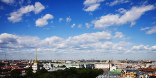 Panoramic view of st. petersburg Royalty Free Stock Photography