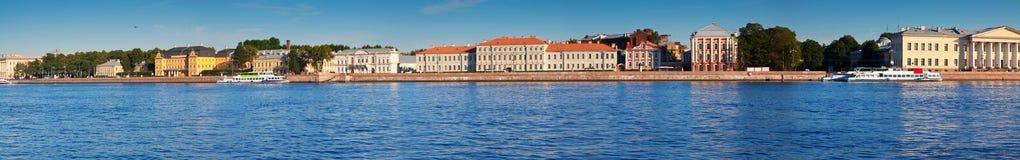 Panoramic view of St. Petersburg. Vasilyevsky Island Royalty Free Stock Image