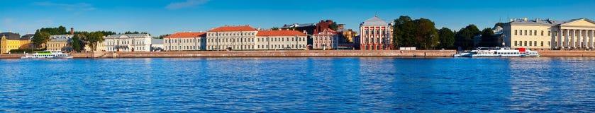 Panoramic view of St. Petersburg. Vasilyevsky Island Stock Image