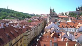 St. Vitus cathedral in Prague. A panoramic view of St. Vitus cathedral in Prague, Czech Republic stock video