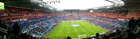 Panoramic view of a stadium Stock Photography