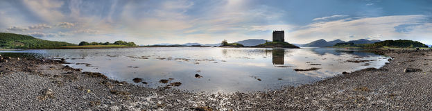 Panoramic view on Stalker Castle Royalty Free Stock Image