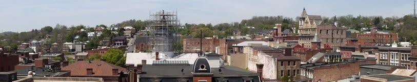 Panoramic View of Staunton, Virginia Royalty Free Stock Image