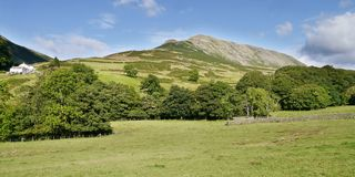 Panoramic view of Steel Fell, Lake District Royalty Free Stock Images