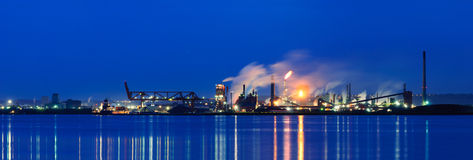 Panoramic view of Steel Plant, Hamilton, Ontario, Canada Royalty Free Stock Photo