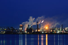 Panoramic view of Steel Plant, Hamilton, Ontario, Canada Royalty Free Stock Image