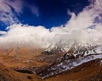 Panoramic view of the Stepantsminda Royalty Free Stock Images