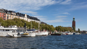 Panoramic view of Stockholm city Royalty Free Stock Images