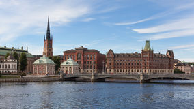 Panoramic view of Stockholm Riddarholmen Island Royalty Free Stock Image