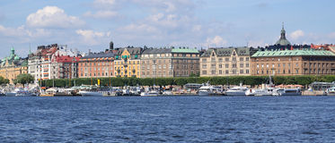 Panoramic view of Stockholm Royalty Free Stock Photography