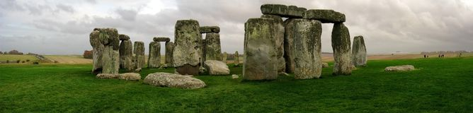 Panoramic view of Stonehenge stock photos