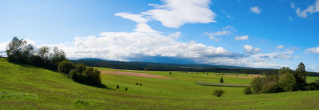Panoramic view of a storm over the Black Forest. Stock Image