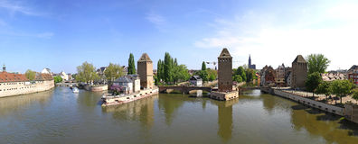 Panoramic view of Strasbour city, France Stock Photos
