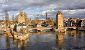 Panoramic view of Strasbourg city, France Royalty Free Stock Photos
